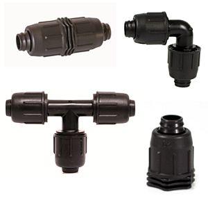 Schraubverbinder für Tropf- & PE-Rohre
