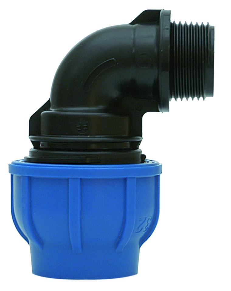 Winkel mit Innengewinde PE Rohr Verschraubung DVGW PE Fitting Trinkwasser